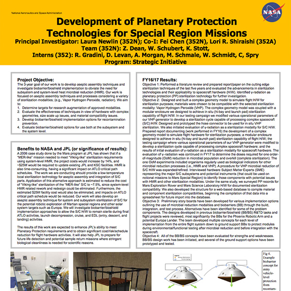 Development of Planetary Protection Technologies for Special Region Missions